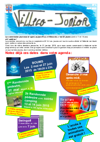 Villeco Junior 1 - avril 2015