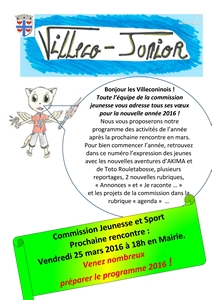 Villeco Junior 3 - janvier 2016